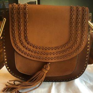 Chloe full size leather saddle bag